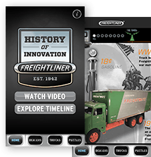Freightliner History of Innovation app